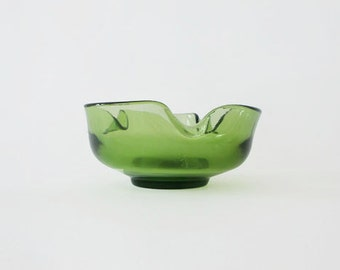 Vintage Green Art Vase / Bowl