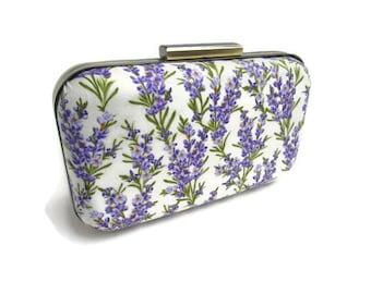 lavender wedding lavender bridesmaid lavender sprigs lavender print lavender clutch bridesmaids clutch bridal clutch bridesmaids gifts