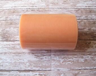 Peach Tulle | 100 Yard Roll, 6 Inch Wide Peach Nylon Tulle | Tutu Tulle