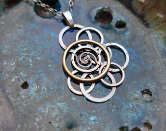 "Watch Parts Pendant ""Baham"" Elegant Intricate Mechanical Watch Sculpture Necklace Industrial Steampunk Wearable Art Mechanical Mind"