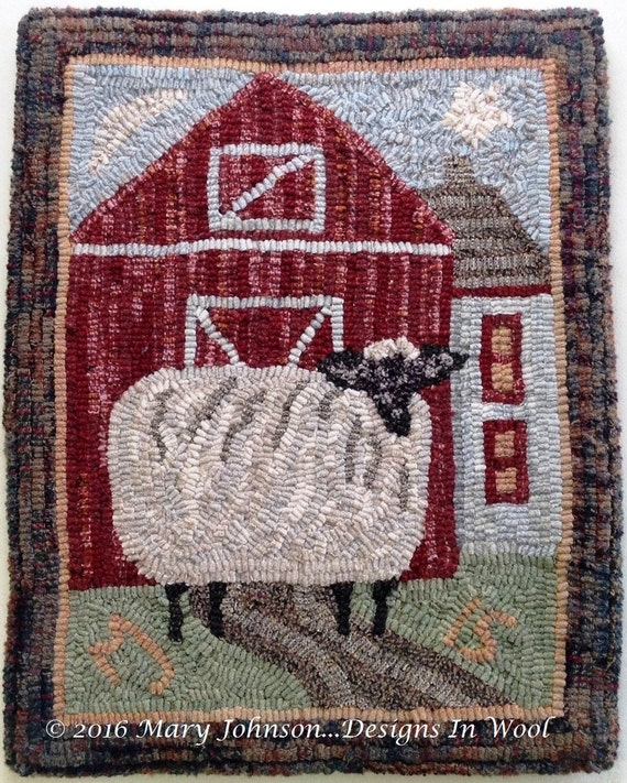 "Rug Hooking KIT, Annabelle the Wandering Sheep, 14"" x 18"", K104"
