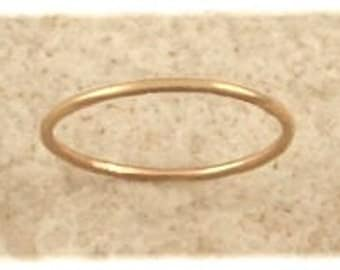 Thin Band Toe Ring - Sized Fitted Toe Rings Midi Rings Pinky Rings - 14K Gold Filled Sterling Silver
