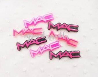 RESTOCK 6pcs - Glittery Kitschy MAC Signature Mix Decoden Cabochon (51x15mm) WS10011