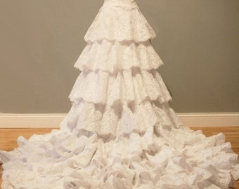 Tiered Lace Wedding Dress Ball Gown - Grace Style