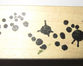 Serendipity 2002 Stamps Ink Blotches Dots Blops Wooden Rubber Stamp