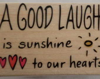 Hero Arts A Good Laugh Is Sunshine In Our Hearts Rubber Stamp