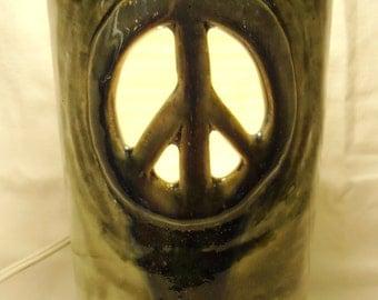Peace Sign Nightlight Lamp Vase #NLL006
