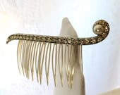 Vintage French Roll Hair Comb 1960s