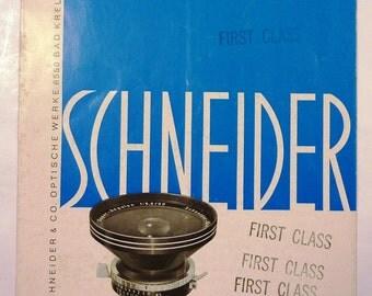 Vintage Schneider Super Angulon 1:5.6 90mm Large Format Lens Pamphlet