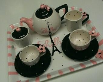 Adult Personalized Paris Tea Set