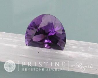 Amethyst Fancy Cut February Birthstone Fine Loose Gemstone Precision Cut for Pendant