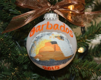 Vacation Keepsake Custom Ornament - Made to Order - Special memories painted of your special trip
