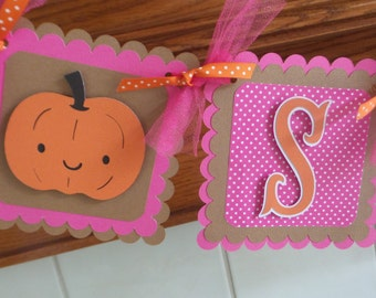 Sugar and Spice Fall Baby Banner Tissue Poms are Available