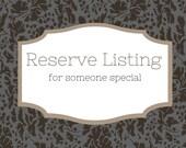 Reserve Listing for Memenzel