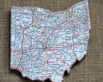 OHIO State Mini Map Wall Art