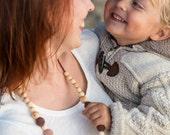 FLASH SALE The Best Seller - Capuccino Nursing Necklace - Juniper Wood