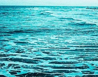 Instant Download Photo, The Endless Eternal Ocean, 12 x 12 Color Print