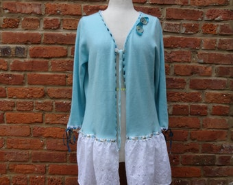 Women's Cardigan,Cashmere Cardigan,Boho Sweater,Romantic Sweater,Nine Muses Of Crete