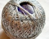 """Silver yarn, sparkle yarn, glitter yarn, shining yarn, sparkling yarn, metal yarn, silver lame, brocade yarn brocade """"Brocat"""" DSH(P3)"""