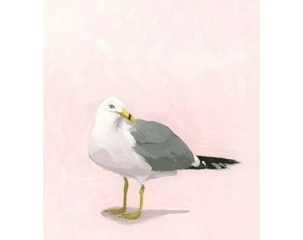 "5x7"" print - bird art - ""Seagull 15"""