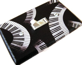 PIANO KEYS  Light Switch Cover Plate Switchplate Music Decor
