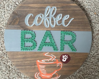 Made to order coffee bar sign