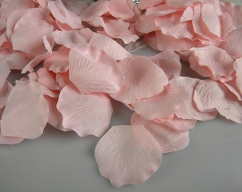 200 Pink Blush Rose Petals Bulk Flower Petals, Artificial, Bridal Baby Shower, Wedding Decoration, Flower Girl Basket Petals, Table Scatter