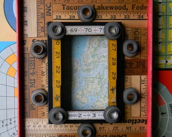 Upcycled Decor - Yardstick Frame - Wall Decor by Jen Hardwick