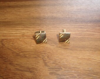 vintage pair cufflinks cuff links anson goldtone