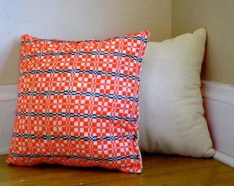 Neon Orange Pillows, set of 2