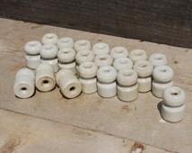 Ceramic Insulators, Vintage White Ceramic Insulators, Vintage Home Decor