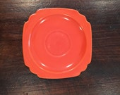Homer Laughlin Riviera Deco Design Red Orange Saucer