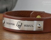 Personalized Leather Bracelet with CUSTOM ART WORK - Please Email Before Purchasing
