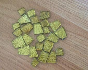 Mosiac Glass Tiles-Yellow, Green, Copper, Black