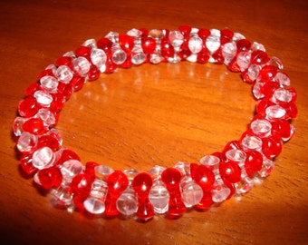 Holiday Candy Cane Bead Bracelets/Earrings