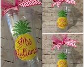 Personalized Pineapple Tumbler - Summer Fun - Mother's Day Gift - Camping Fun - Fruit Tumbler - Destination Wedding