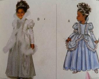 "2005 Dirndl Skirt Princess Dress Costume Pattern Butterick 4630 Girls' 6-7-8  Breast 25-27"" SNOW PRINCESS COSTUME Pattern at WhiletheCatNaps"