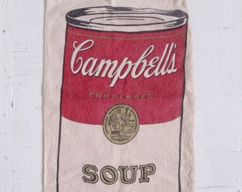 Vintage Campbell's soup canvas drawstring bag