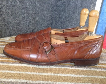 Vintage Italian leather loafers mens 9.5
