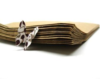 "100 Recycled Brown Kraft Bags - Plain 5"" x 7.5"""