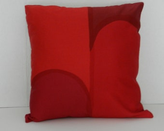 Marimekko Nostosilta Fabric Pillow Cover Red, Wine, 20 x 20  inch and/or 16 x 16 inch with zipper Satin Finish Home Dec Fabric