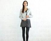 Valentines day On Sale 30%, Biker Jacket - Light Grey