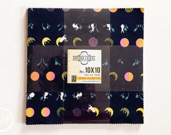 Mochi Ten by Tens, Layer Cake, Rashida Coleman Hale, Cotton and Steel, RJR Fabrics, Pre-Cut Fabric Squares, 1999-09