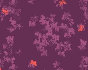 Avant Garde Neo-Flies in Dense, Katarina Roccella, Art Gallery Fabrics, 100% Cotton Fabric, AVG-18904