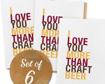 Craft Beer Card Pack, A2 Size, 6 cards total, Free U.S. Shipping