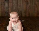 6-12 months Cream Romper-Photography Prop Rompers-Baby Photo Outfits-Kids Photography Props-Sitters Romper-Sitters Props-Sitters Outfits