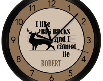 Deer Hunting Wall Clock Personalized
