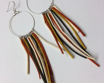 Southwestern Suede and Hoop Earrings