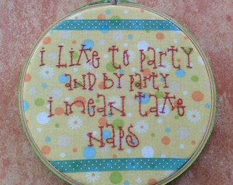 Party Napper Embroidery