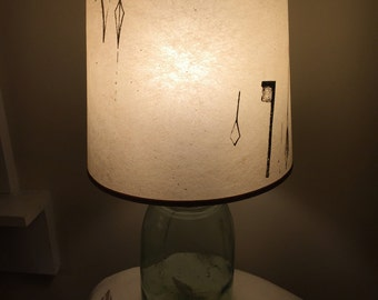 pr of Eames Era 50s Retro Atomic era Mid century fiberglass Parchment lampshades lamp shade set of 2 !!!!